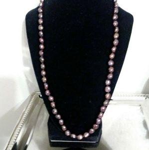 "Honora 24"" chocolate brown pearls"